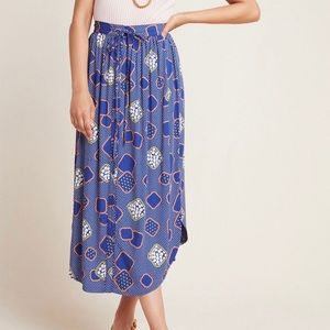 NWT Anthropologie Mollie Button-Front Midi Skirt